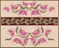 Trame et cadre floraux. Photo stock