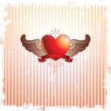 Trame et coeur abstraits Photographie stock libre de droits