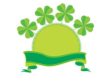 Trame et drapeau irlandais - vecteur Images stock