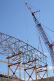 Trame et grue de construction Images stock