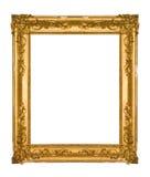 Trame fleurie ébréchée d'or de cru image libre de droits