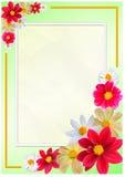 Trame fleurie Image libre de droits