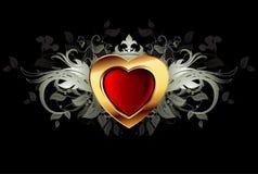 Trame fleurie de coeur Image libre de droits