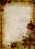 Trame fleurie pour la salutation Images stock