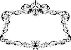 Trame fleurie royale de calligraphie Photo stock