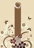 trame florale illustration stock