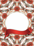 Trame florale avec le drapeau rouge Images stock