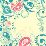 Trame florale avec le motif de Paisley illustration de vecteur