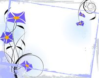 Trame florale bleue Photos stock