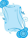 Trame florale bleue illustration stock