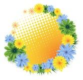 Trame florale colorée illustration stock