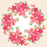 Trame florale colorée illustration de vecteur