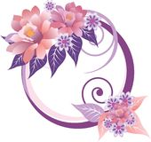 trame florale décorative Image libre de droits