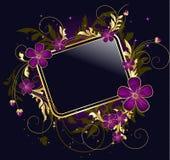 Trame florale d'or Photo libre de droits