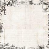 Trame florale d'album à cru de Steampunk Images stock