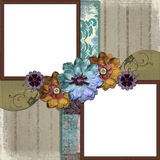 Trame florale de photo de pays Photo stock