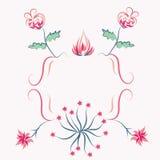 Trame florale de rose de decorational Image libre de droits