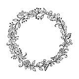 Trame florale de vecteur Concept de la Bohême pour l'invitation Images stock