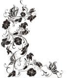 Trame florale de vecteur des fleurs et des guindineaux illustration libre de droits