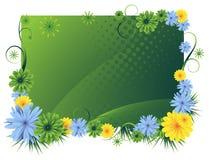Trame florale lumineuse illustration stock