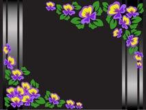 Trame florale noire Photo libre de droits