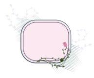 Trame florale, panneau des textes Photos stock