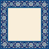 Trame florale pour votre conception Ornement turc traditionnel de tabouret de ½ de ¿ d'ï Iznik illustration stock