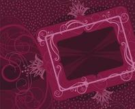 Trame florale rouge illustration de vecteur