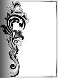 Trame grise avec un ornement illustration de vecteur