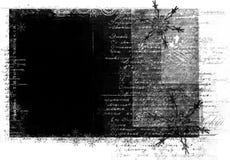 Trame grunge avec le texte manuscrit Photographie stock libre de droits