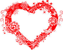 Trame grunge de valentine, coeur, vecteur Photographie stock