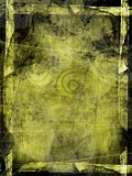 Trame grunge verte texturisée Photographie stock