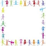 Trame heureuse colorée d'enfants Photo stock