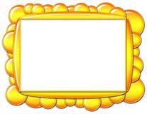 Trame jaune de bulle illustration de vecteur