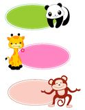 Trame/lable animaux Image stock