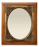 Trame élégante en bois et de photo de laiton Image stock