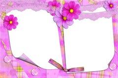Trame lilas avec des fleurons Photos libres de droits