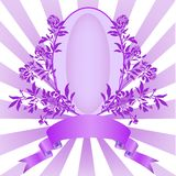 Trame lilas de cru illustration stock