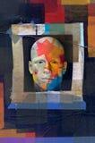 Trame mâle colorée de grunge de verticale Images stock
