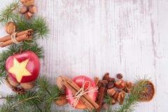 Trame magique bleue de Noël Photographie stock libre de droits