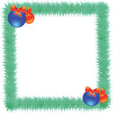 Trame magique bleue de Noël Images libres de droits