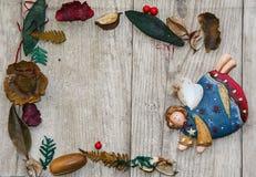Trame magique bleue de Noël Photographie stock