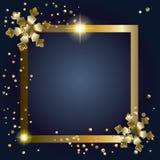 Trame magique bleue de Noël illustration de vecteur