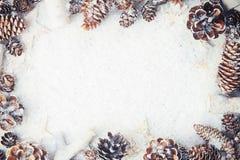 Trame magique bleue de Noël Photo stock