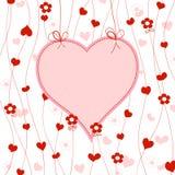Trame mignonne de coeur illustration libre de droits
