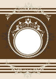 Trame ornementale antique. Banner.Frame. Photo stock