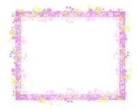 Trame ou cadre de vigne de fleur de source Image libre de droits