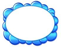 Trame ovale bleue de bulle illustration stock