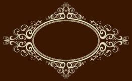 Trame ovale de cru Image stock