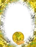 Trame ovale du monde illustration stock